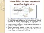 noise effect in instrumentation amplifier applications