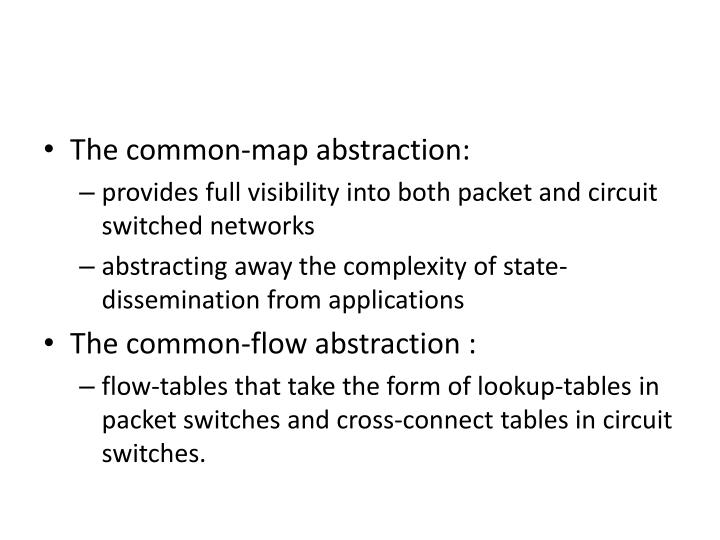 The common-map abstraction:
