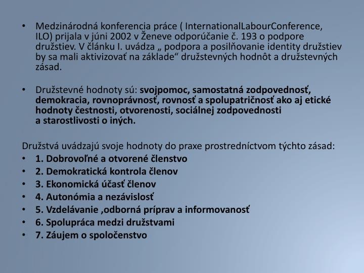 Medzinárodná konferencia práce (