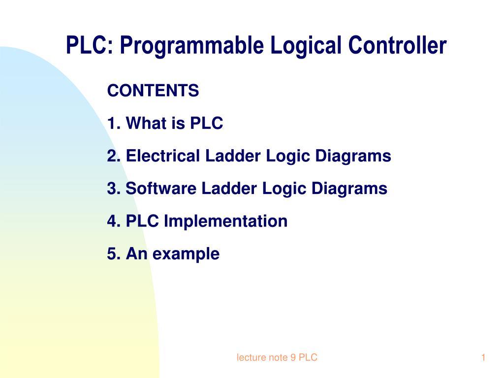 Ppt Plc Programmable Logical Controller Powerpoint Presentation Ladder Logic Wiring Diagram N