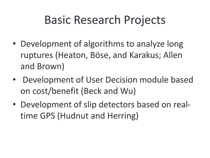 Basic Research Projects