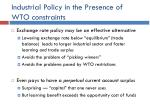 industrial policy in the presence of wto constraints