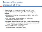 sources of increasing standards of living