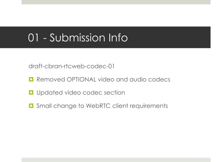 01 submission info