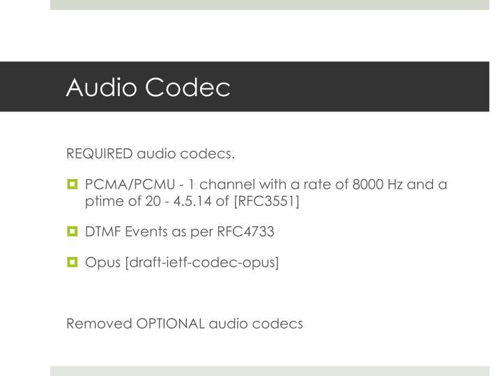 Audio Codec
