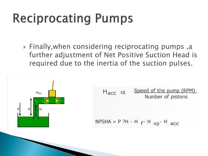 Reciprocating Pumps