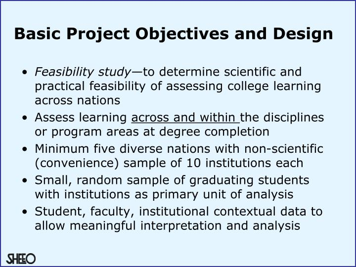 Basic project objectives and design