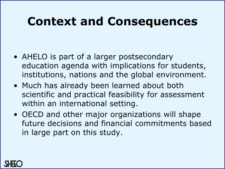 Context and Consequences