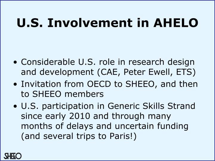 U.S. Involvement in AHELO