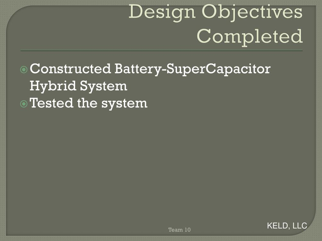 PPT - Battery- Supercapacitor Hybrid System PowerPoint