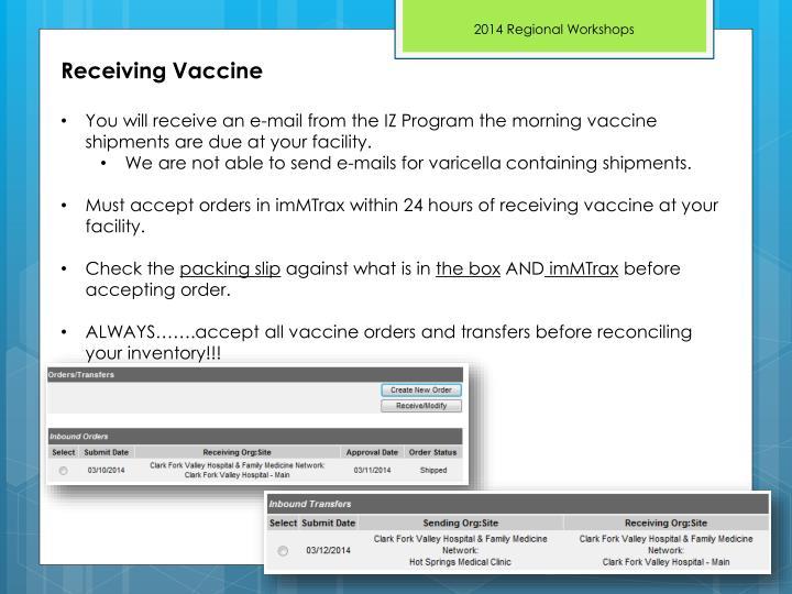 Receiving Vaccine