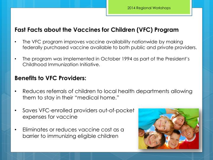 Fast Facts about the Vaccines for Children (VFC) Program