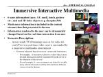immersive i nteractive multimedia