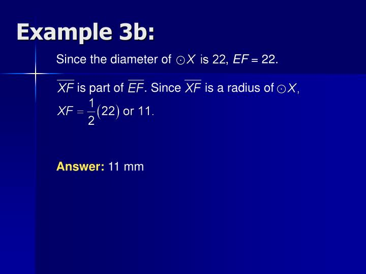 Since the diameter of                ,