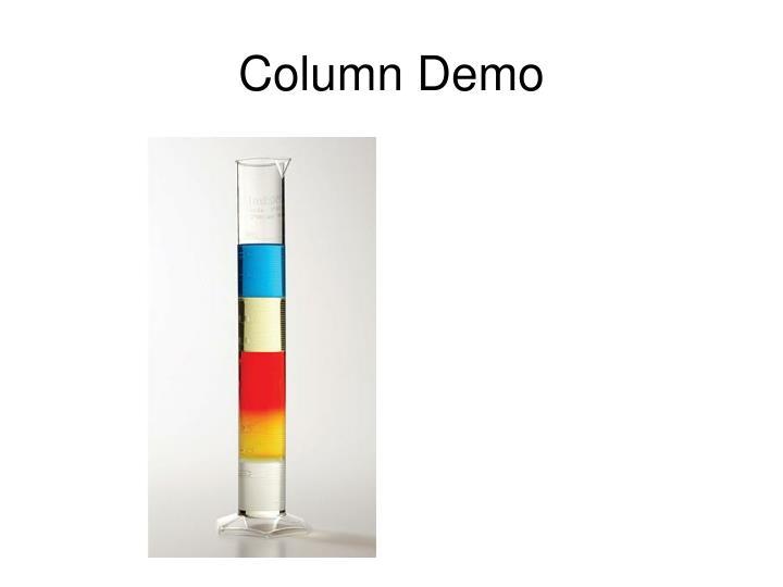Column Demo