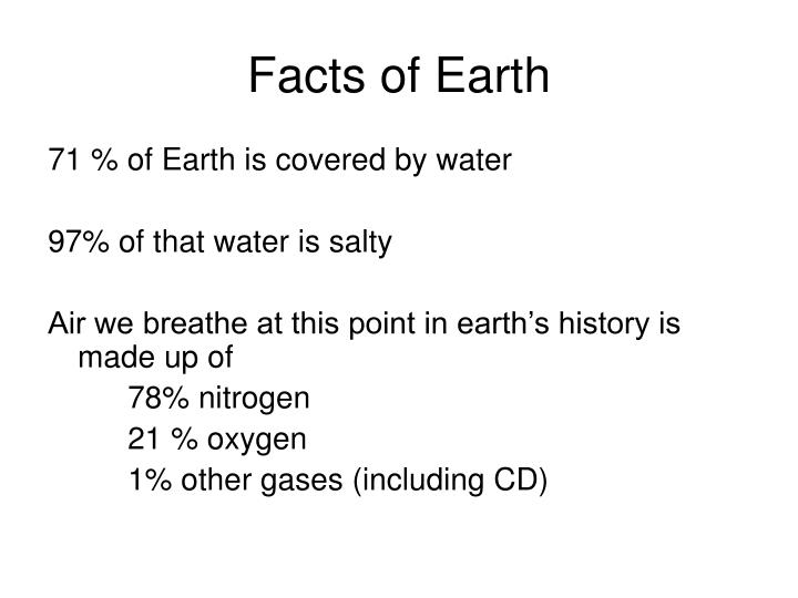 Facts of Earth