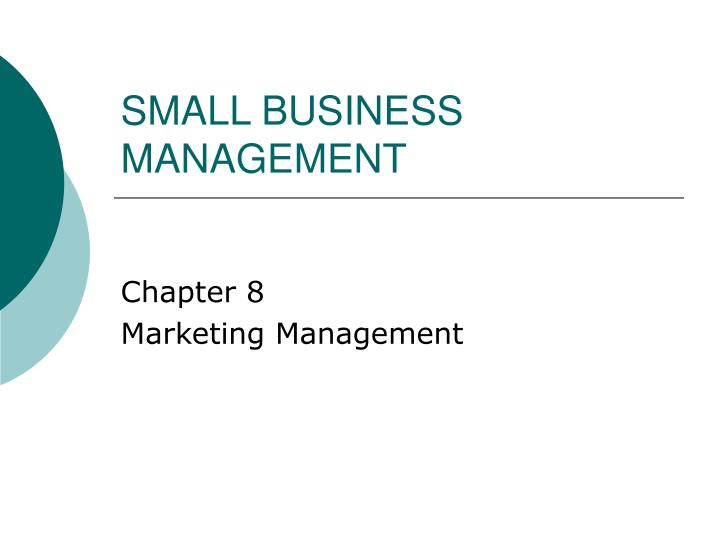 small business management n.