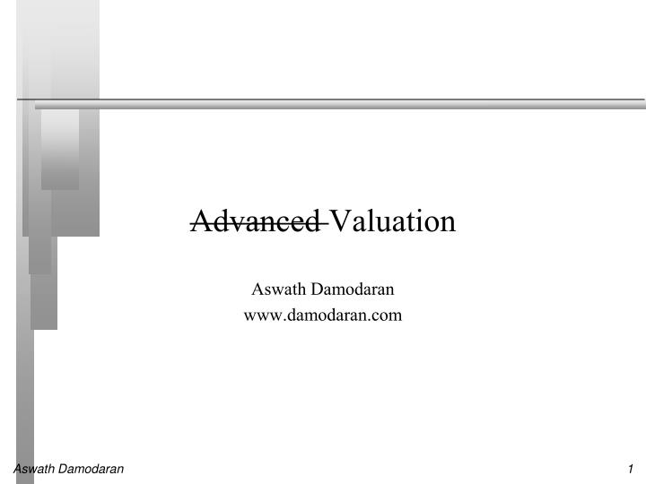 advanced valuation n.
