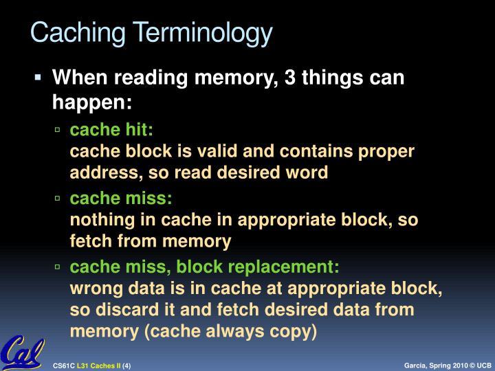 Caching Terminology