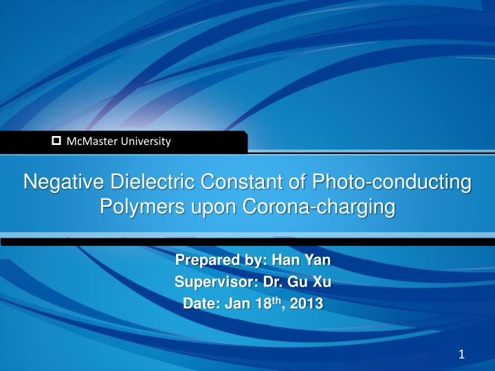 PPT - Negative Dielectric Constant of Photo-conducting