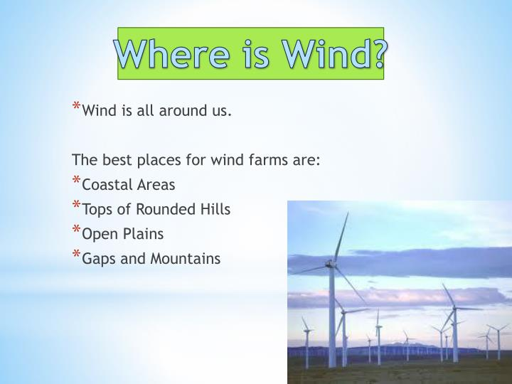Where is Wind?