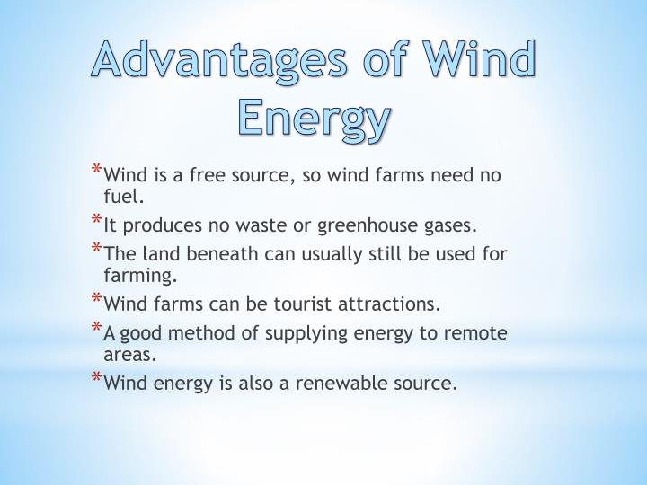 Advantages of Wind Energy