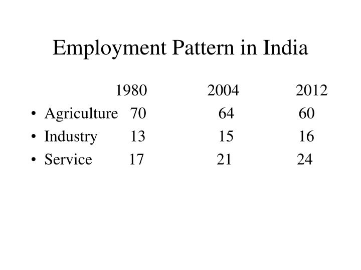 Employment Pattern in India