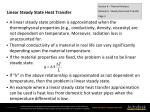 linear steady state heat transfer