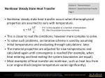 nonlinear steady state heat transfer