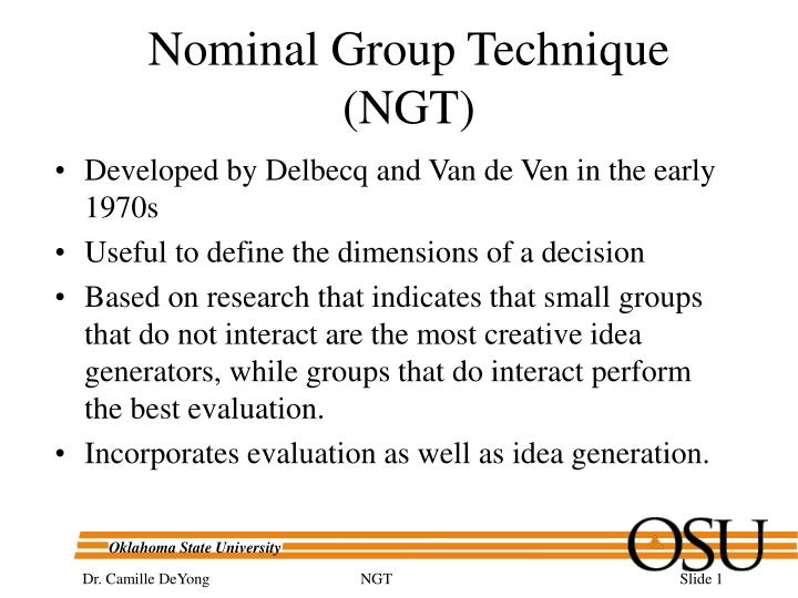 nominal group technique ngt n.