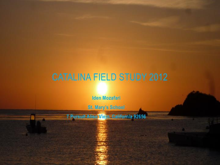 catalina field study 2012 n.
