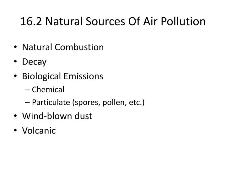 16 2 natural sources of air pollution