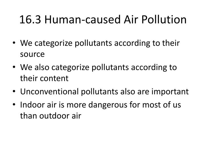 16 3 human caused air pollution