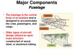 major components fuselage