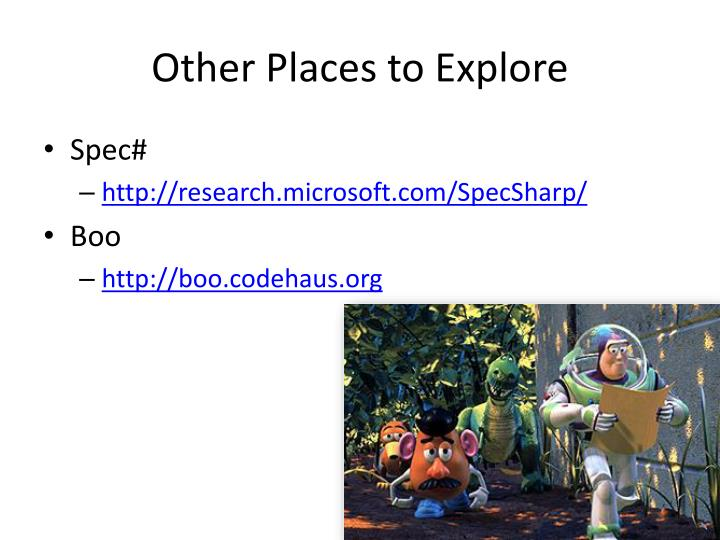 Other Places to Explore