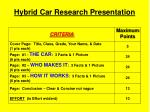 hybrid car research presentation