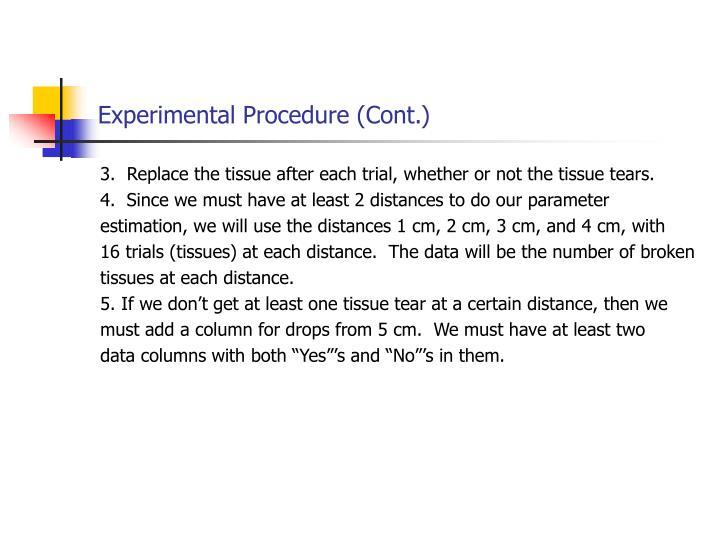 Experimental Procedure (Cont.)