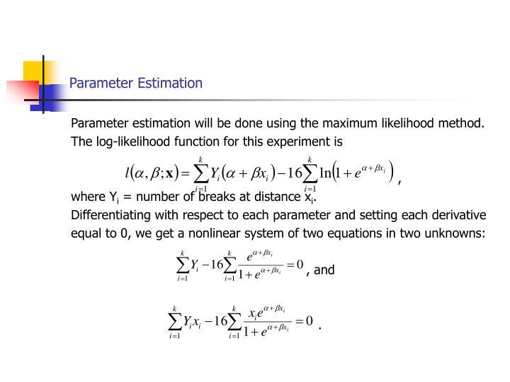 Parameter Estimation