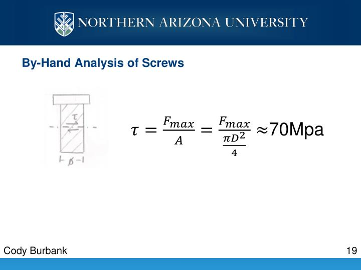 By-Hand Analysis of Screws
