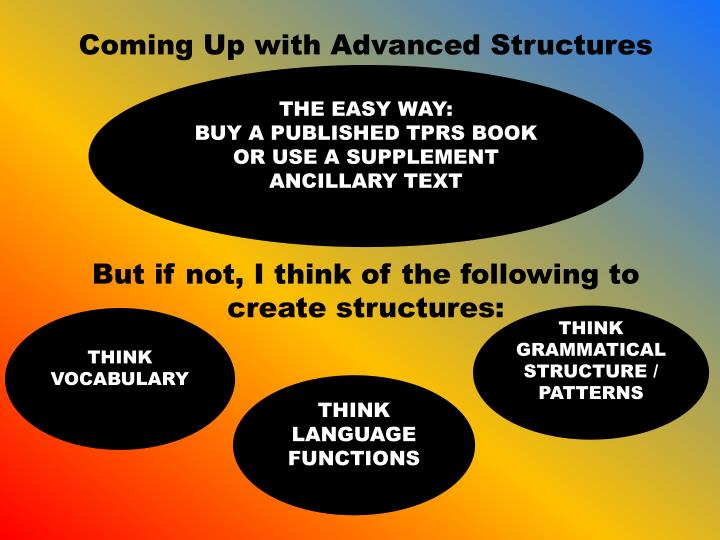 Coming Up with Advanced Structures