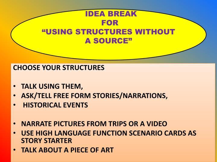 IDEA BREAK
