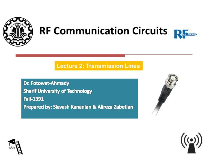 Rf communication circuits1