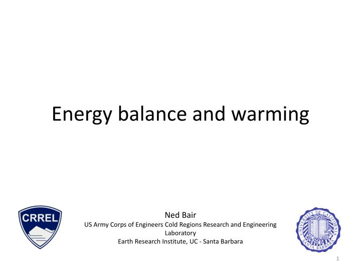 energy balance and warming n.