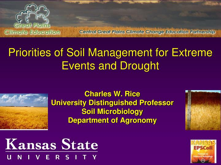 priorities of soil management for extreme events and drought n.