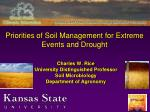 priorities of soil management for extreme events and drought