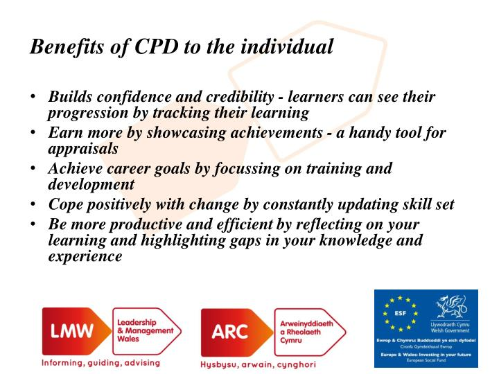 Benefits of CPD to the individual