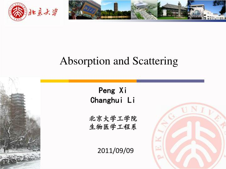 absorption and scattering n.