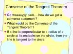 converse of the tangent theorem