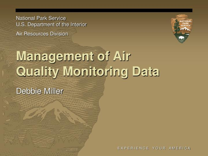 management of air quality monitoring data n.