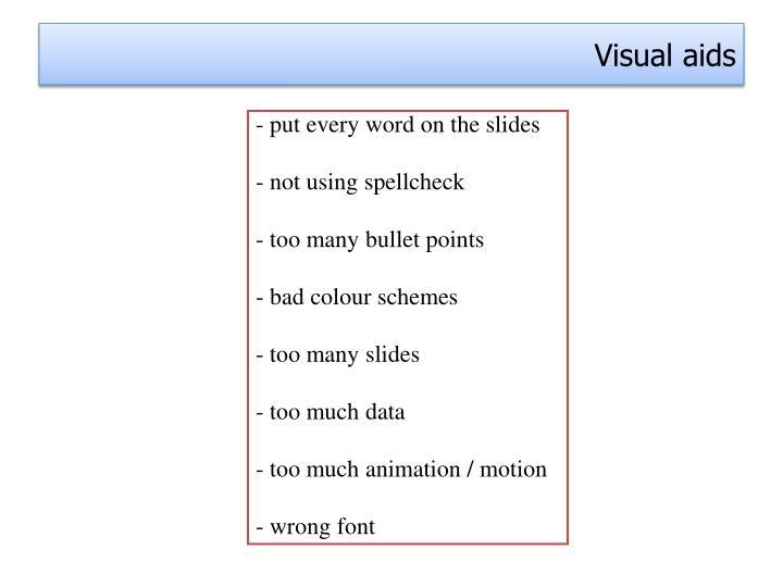 Ppt Visual Aids Point Presentation Id 2407550